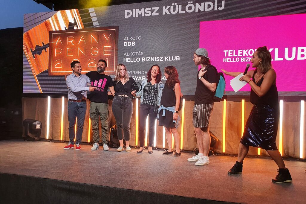 Arany Penge 2021, DIMSZ Különdíj, Török Szabolcs, DDB, Magyar Telekom, Hello Biznisz Klub