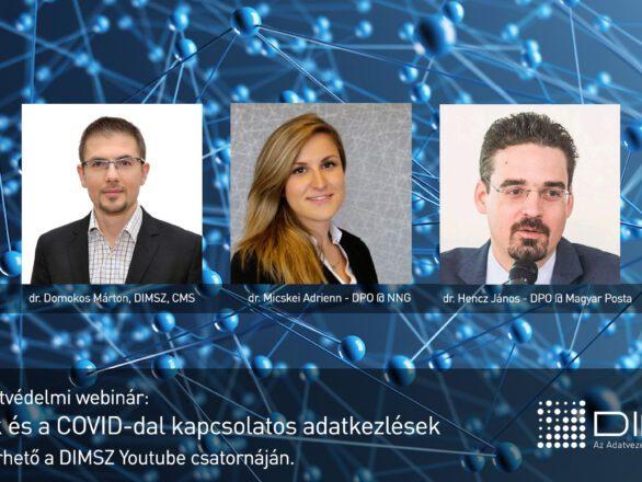 DIMSZ Adatvédelmi webinár - GDPR, SCC, Covid
